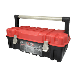 Caja plástica portaherramientas tapa roja Urrea CPUC20R