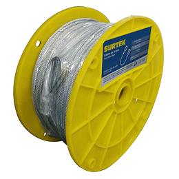 """Cable acero PVC 7x7 1/8""""x76m Surtek CAP114"""