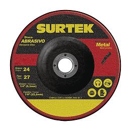 """Disco t/27 metal 7x1/4"""" Surtek 123321"""