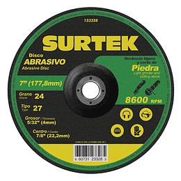 "Disco t/27 piedra 7x5/32"" Surtek 123328"