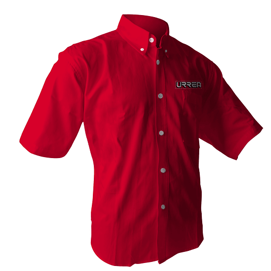 Camisa roja manga corta Urrea talla XL Urrea