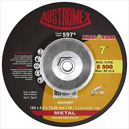 Disco con adaptador integrado para desbaste de metal 7 x 1/4 x 7/8 597