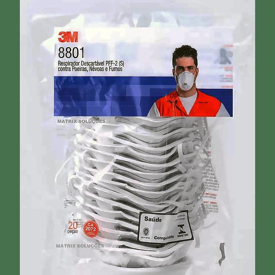 20 Piezas Respirador para Partículas 3M PFF2 8801