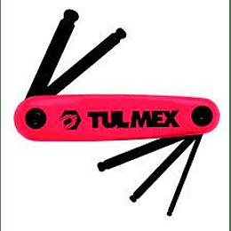 Juego de 5 llaves hexag bola Tipo navaja 713