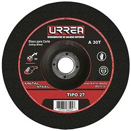 """Disco t/27 metal 9x1/8"""" e/pes Urrea U782"""