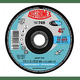 """Disco Abrasivo de Corte de Acero Inox 4 1/2"""" x 3/64"""" x 7/8"""", 769 50 Piezas 769"""