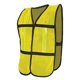 Chaleco Malla Reflejante Plástico Amarillo