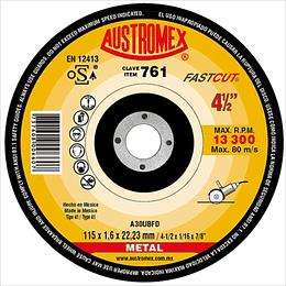 Disco para corte de metal 4 1/2 X 1/16 X 7/8 25 Piezas 761
