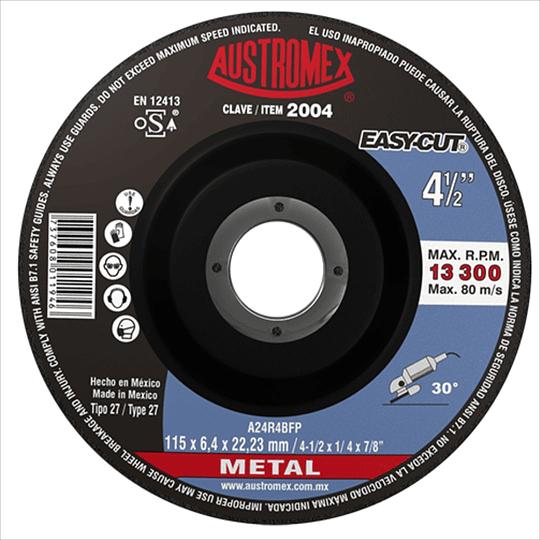 Disco Tipo 27 Para Desbaste de Metal 4 1/2