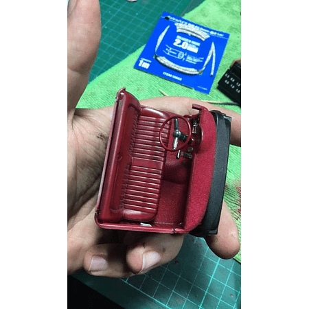 Diseño de cuero rojo