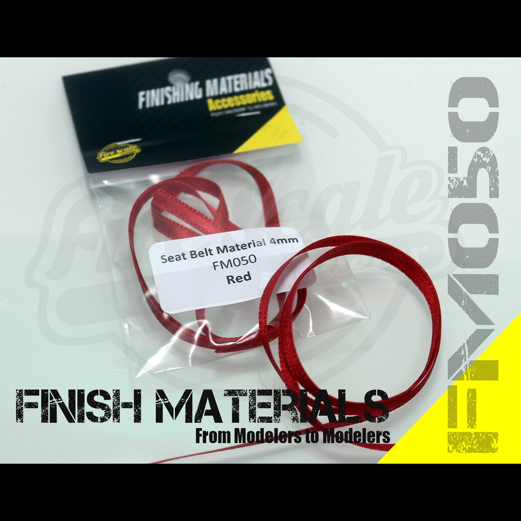 Cinturón Sealt Rojo 4mm