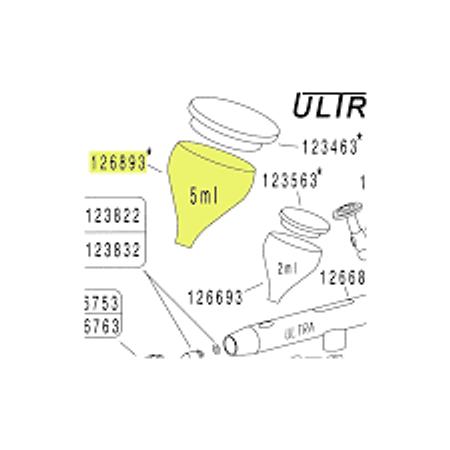 Vaso de 5ml para Ultra Aerógrafo