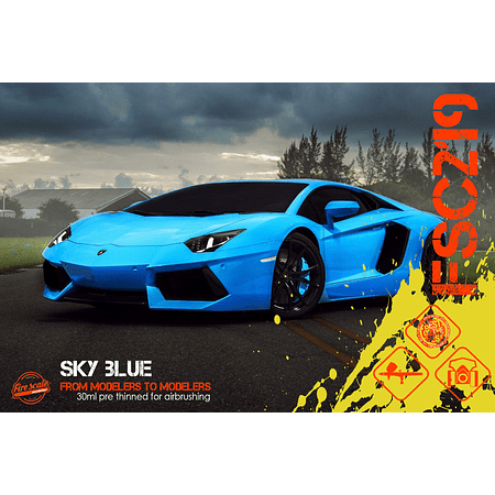 Sky Blue Lamborghini