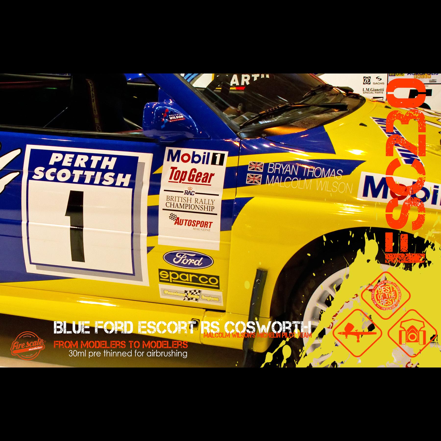 Bleu Ford Escort RS Cosworth