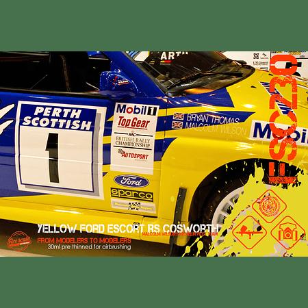 Ford Escort RS Cosworth jaune