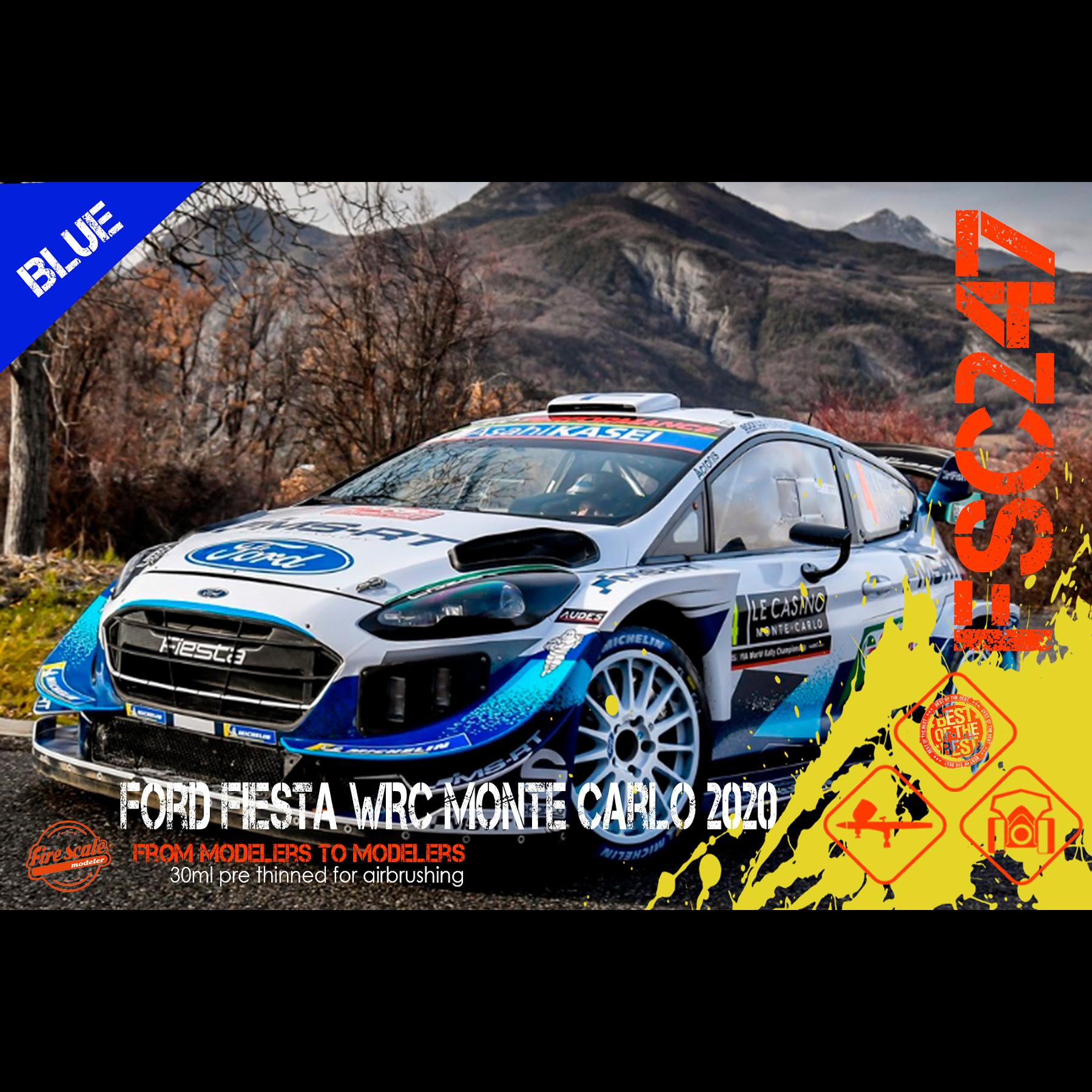 Ford Fiesta WRC Monte Carlo 2020 - Azul