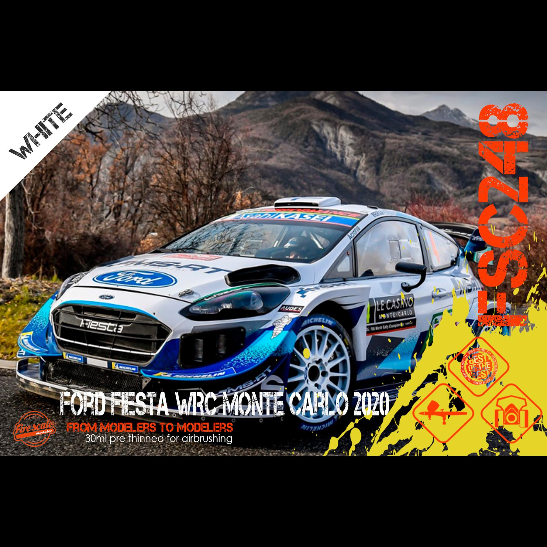 Ford Fiesta WRC Monte Carlo 2020 - Blanco