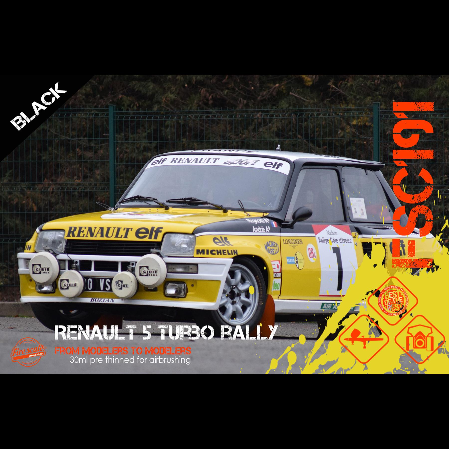 Renault 5 Turbo Rally - Negro