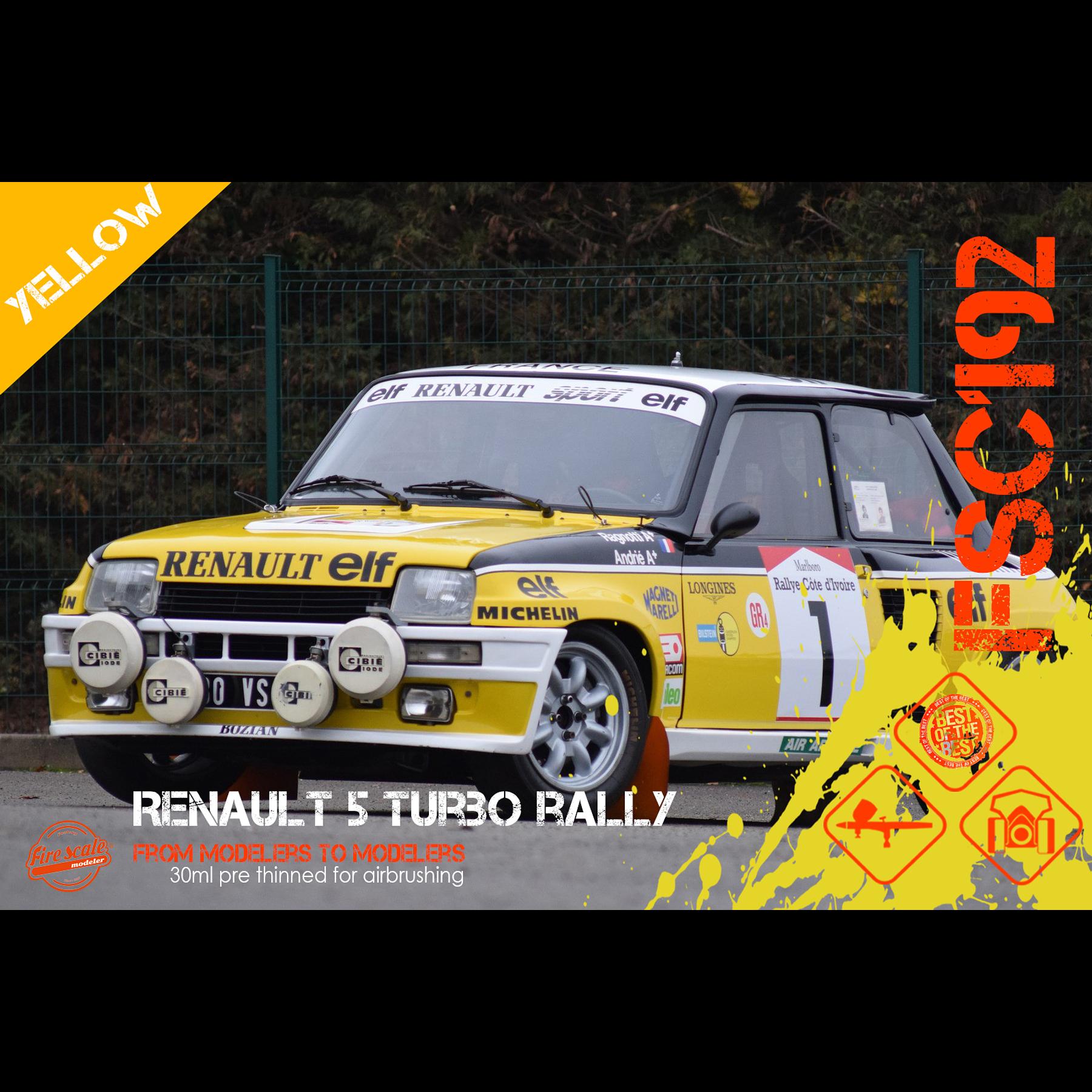 Renault 5 Turbo Rally - Amarillo
