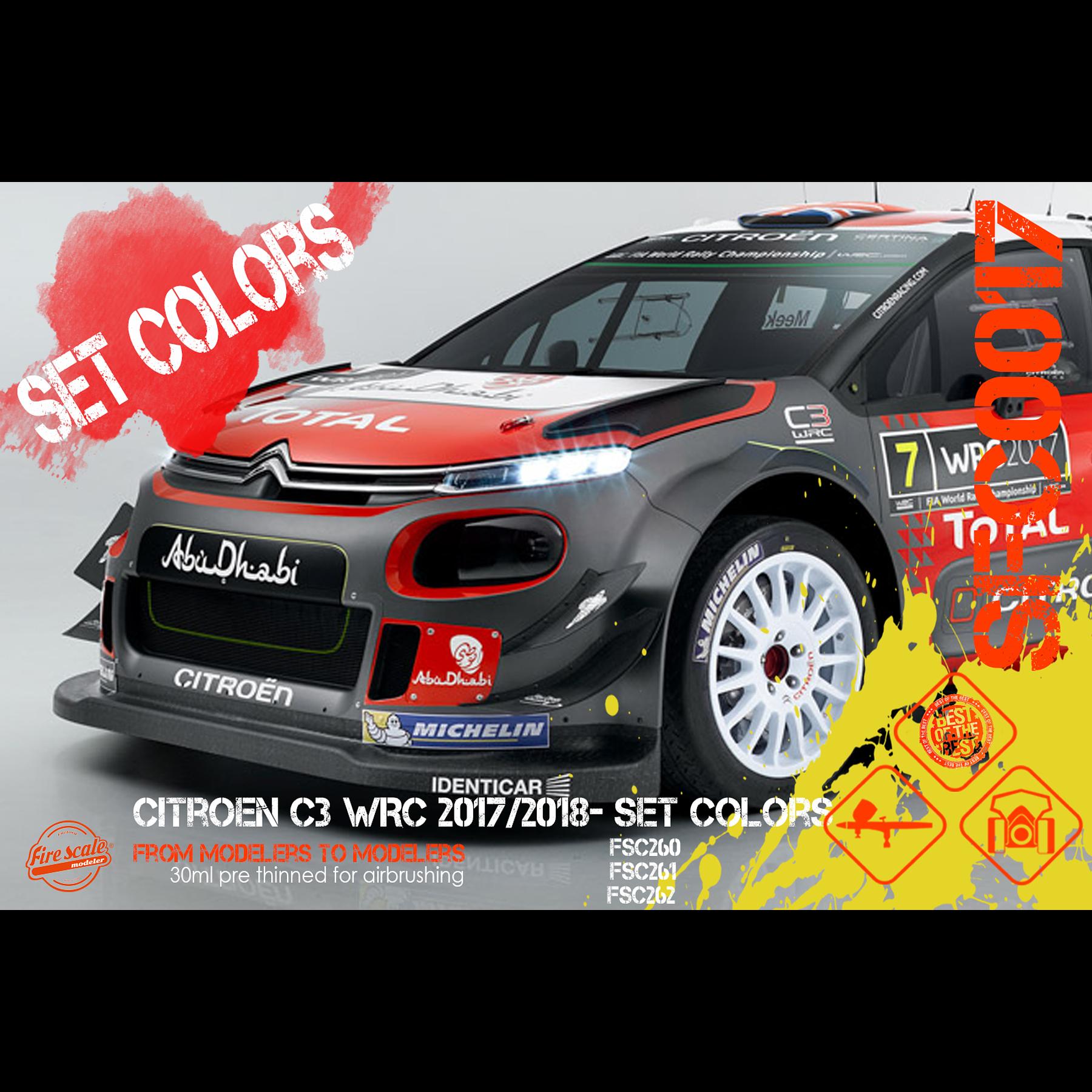 Citroen C3 WRC 2017/2018 - Set Color
