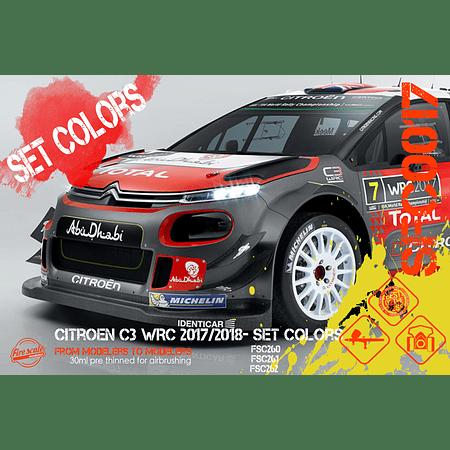 Citroën C3 WRC 2017/2018 - Set Couleur