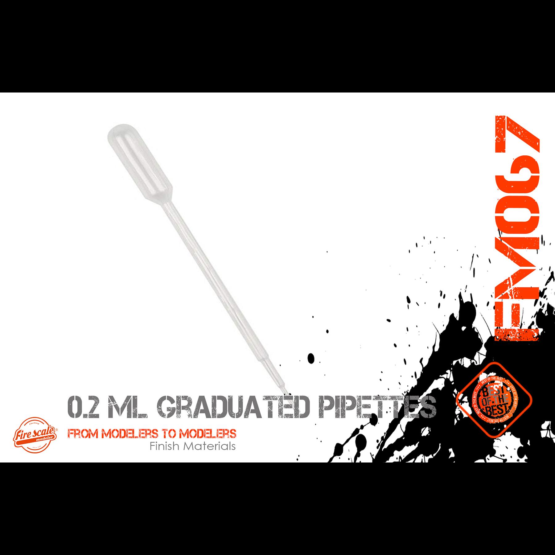 Pipetas graduadas de 0,2 ml