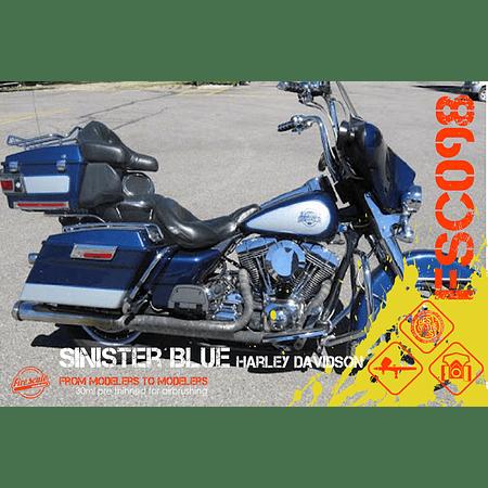 Sinister Blue Harley Davidson