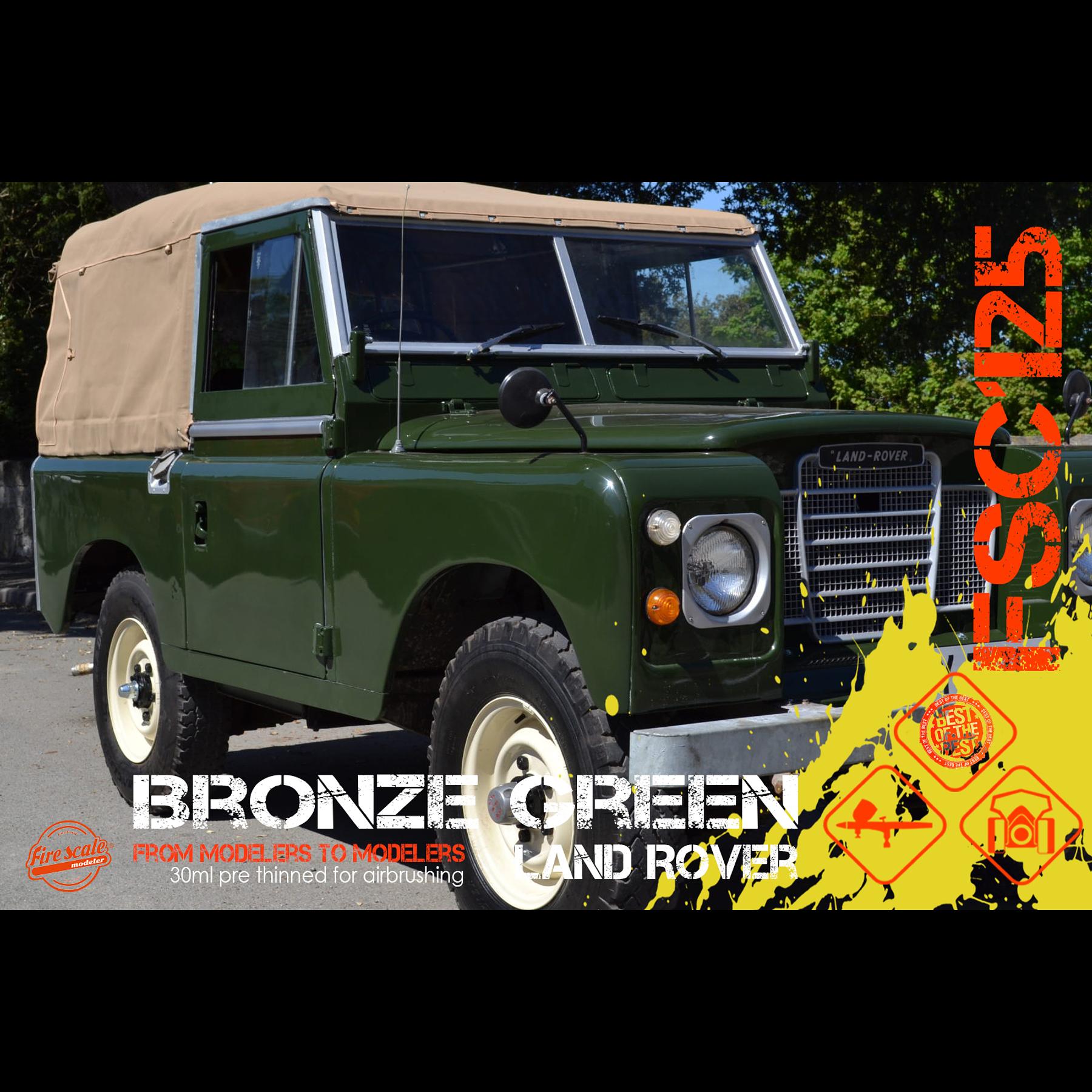Land Rover vert bronze