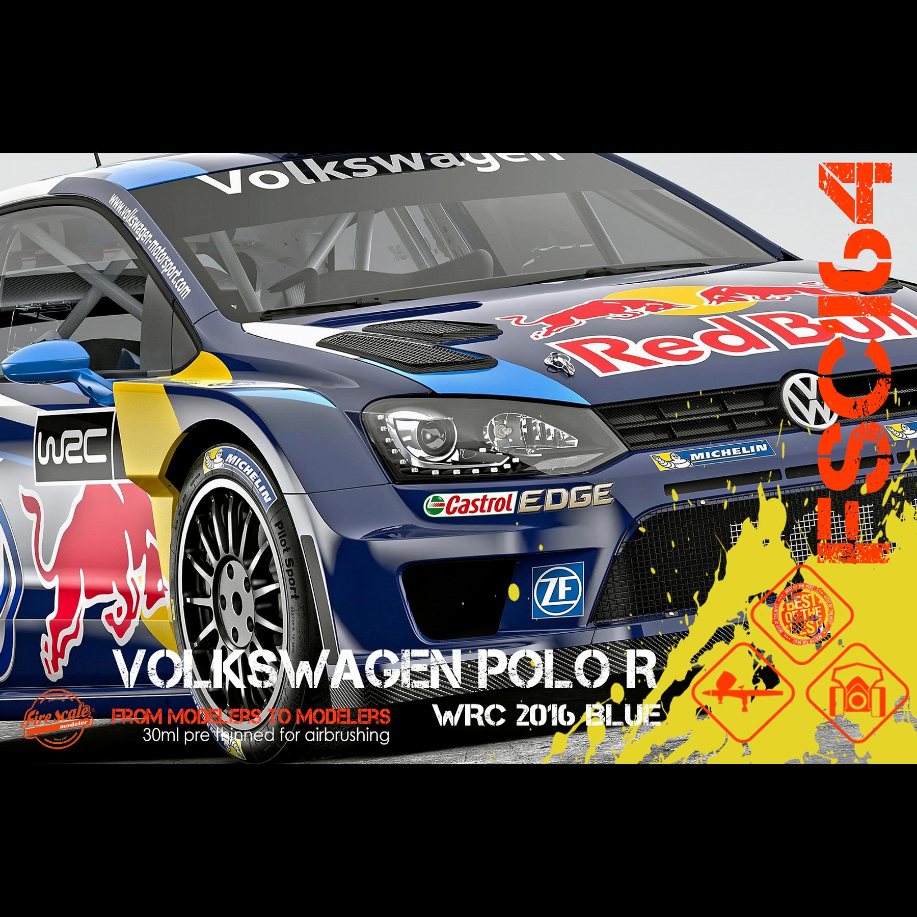 Volkswagen Polo azul oscuro WRC