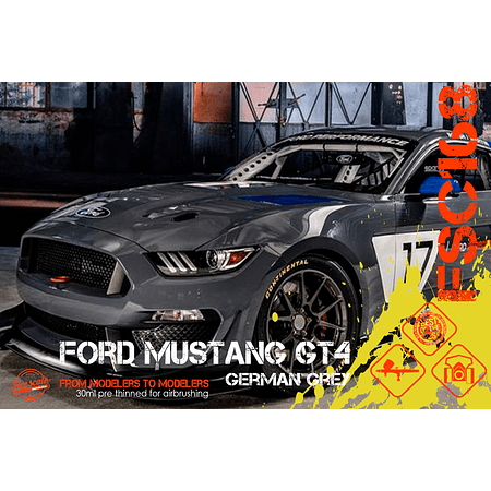 GT4 Gris Allemand Ford Mustang