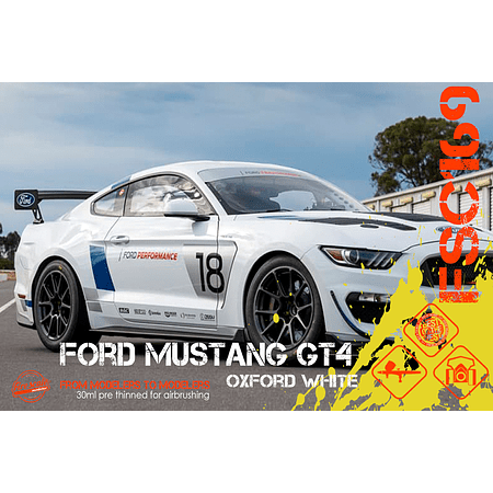 GT4 Oxford Blanco Ford Mustang