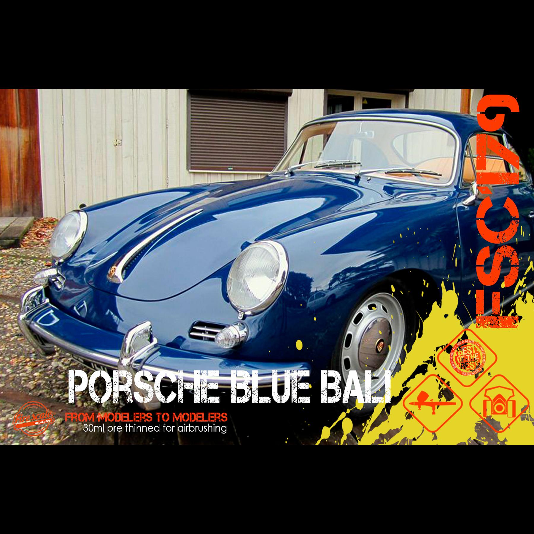 Porsche bleue de Bali