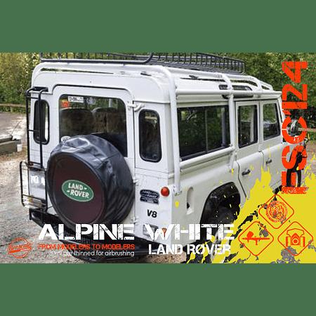 Land Rover blanco alpino