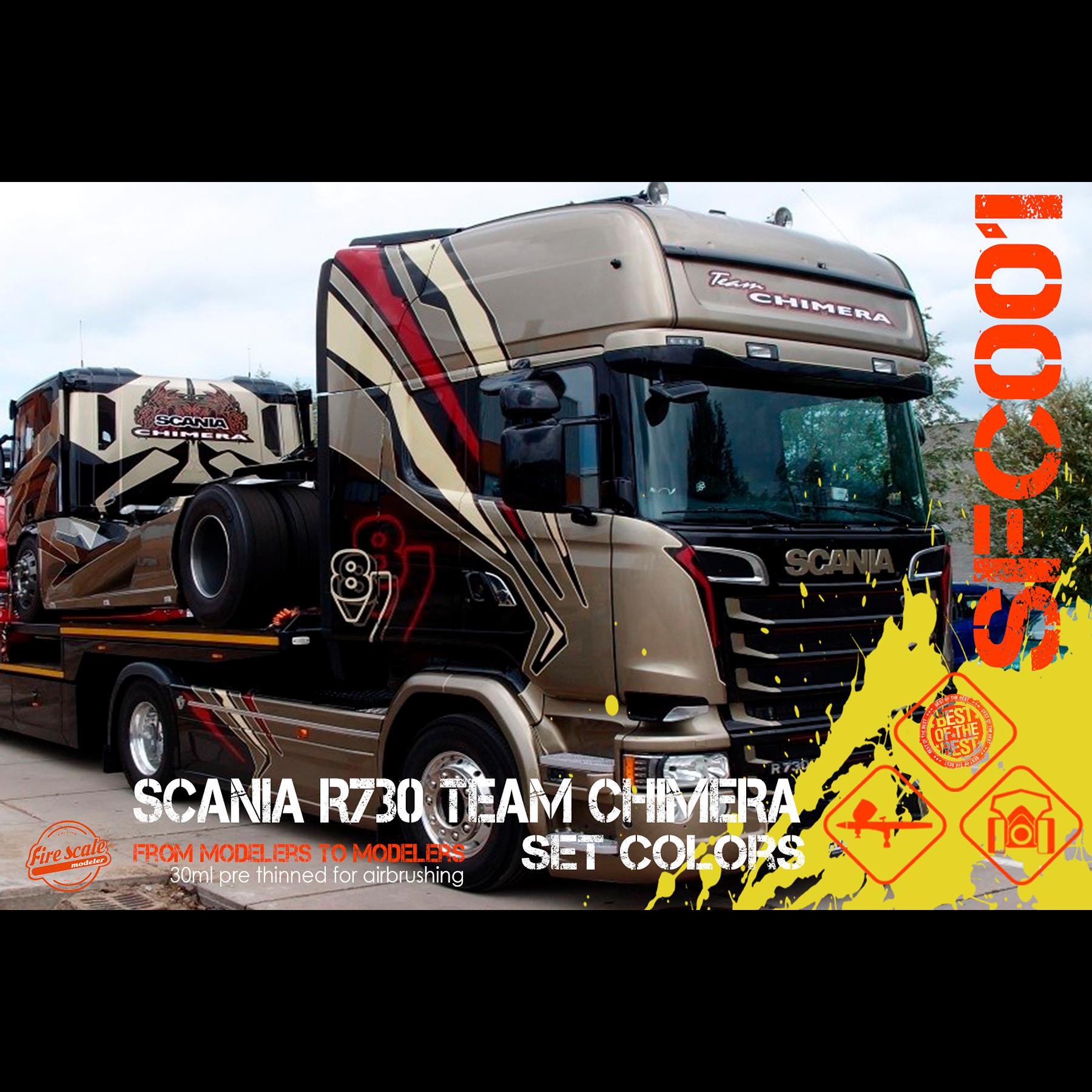 Jeu de couleurs Scania R730