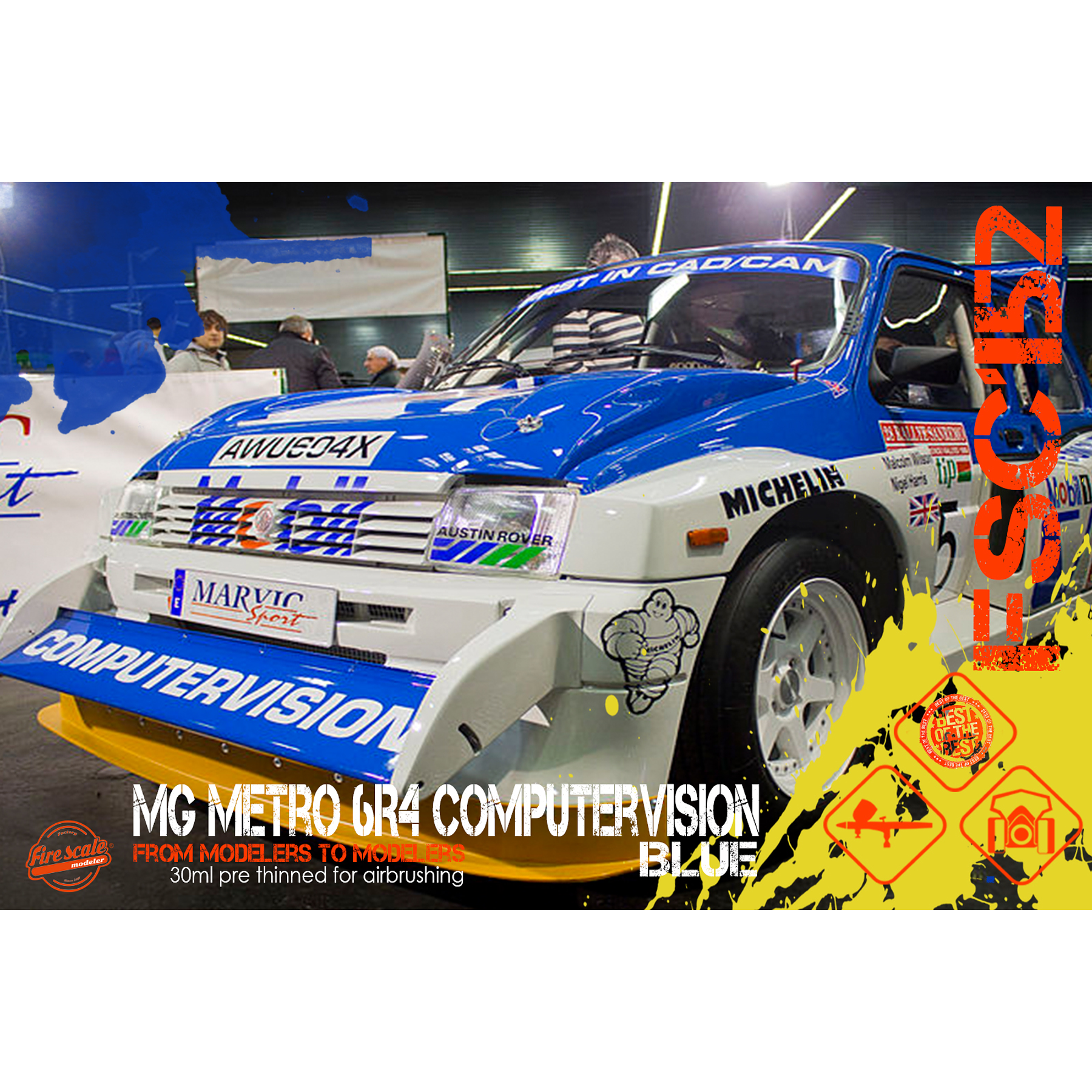 MG Metro 6R4 Computervision Blue