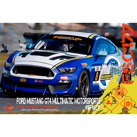 Ford Mustang GT4 Multimatic Motorsports Grey
