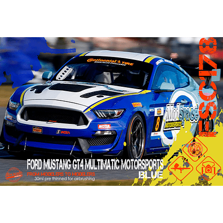 Ford Mustang GT4 Multimatic Motorsports Blue