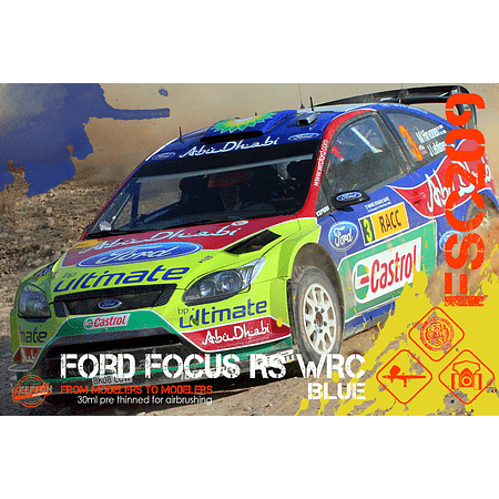 Ford Focus RS WRC Blue