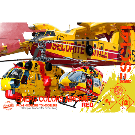 Emerg Colors Aircraft - Red