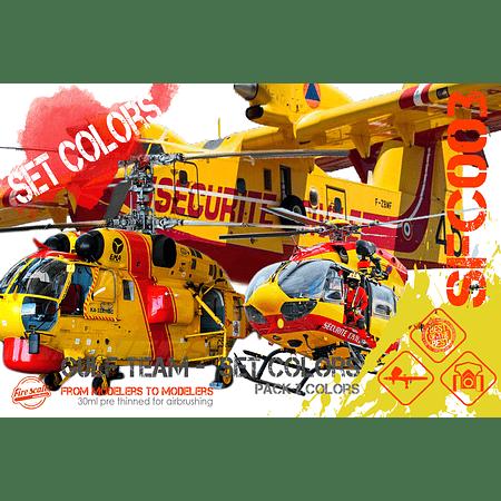 Urgence Ensemble de couleurs d'avion