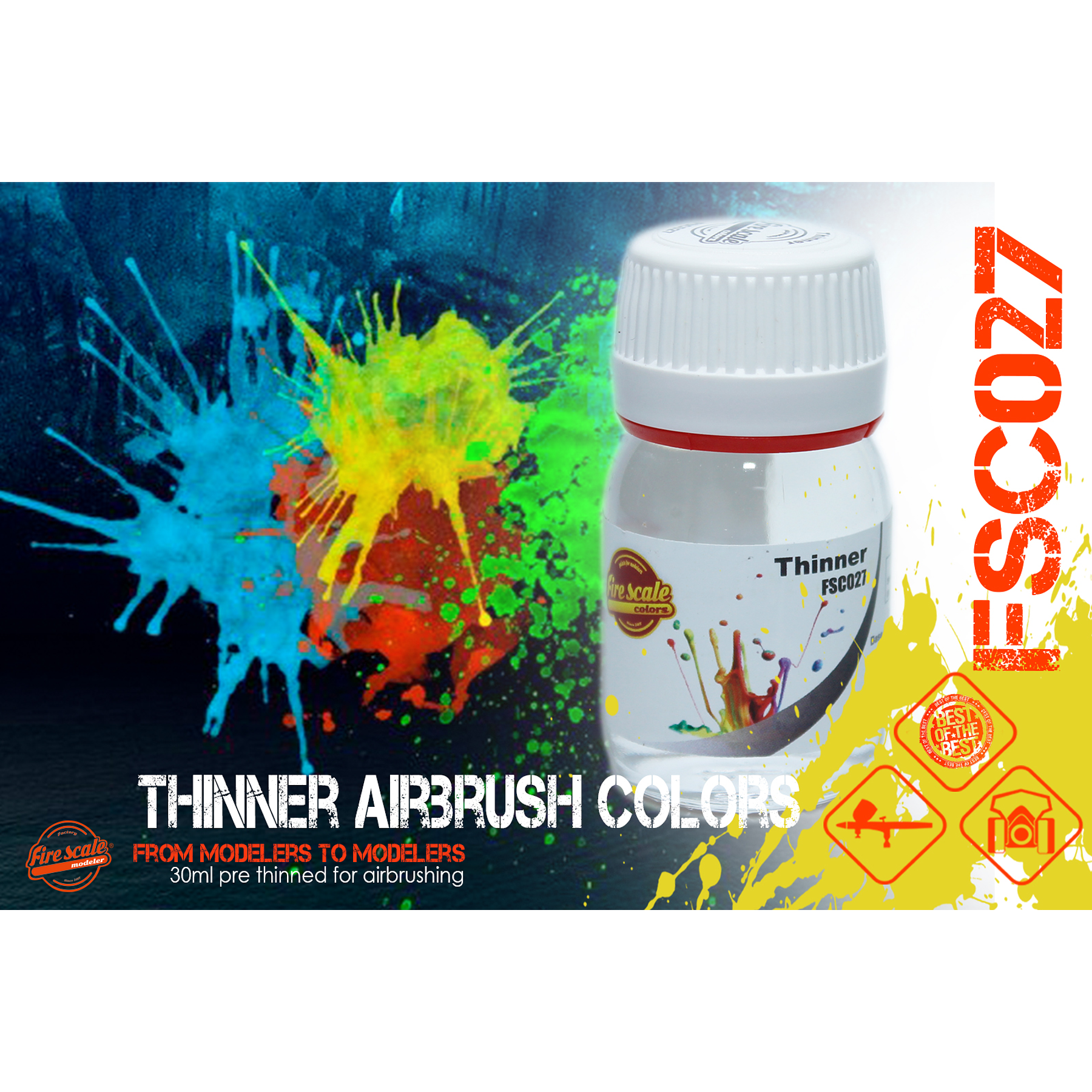 Thinner Color Airbrush