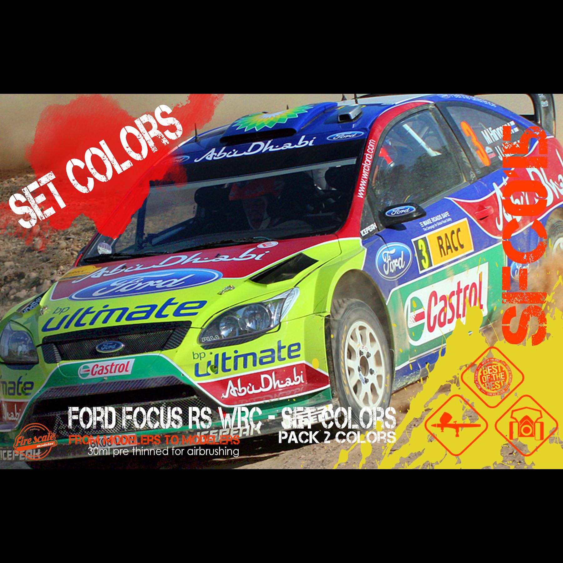 Ford Focus RS WRC - Set Colors