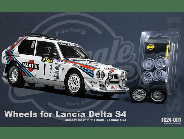 Llantas Lancia Delta S4 - 1:24