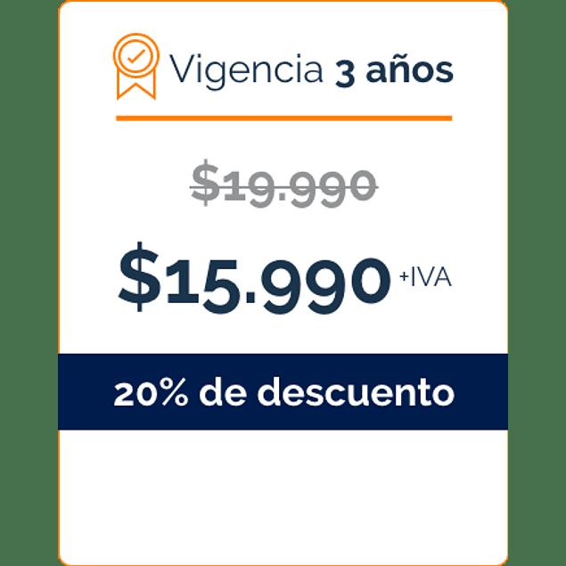 Firma Digital por 3 Años - BANCO DE CHILE