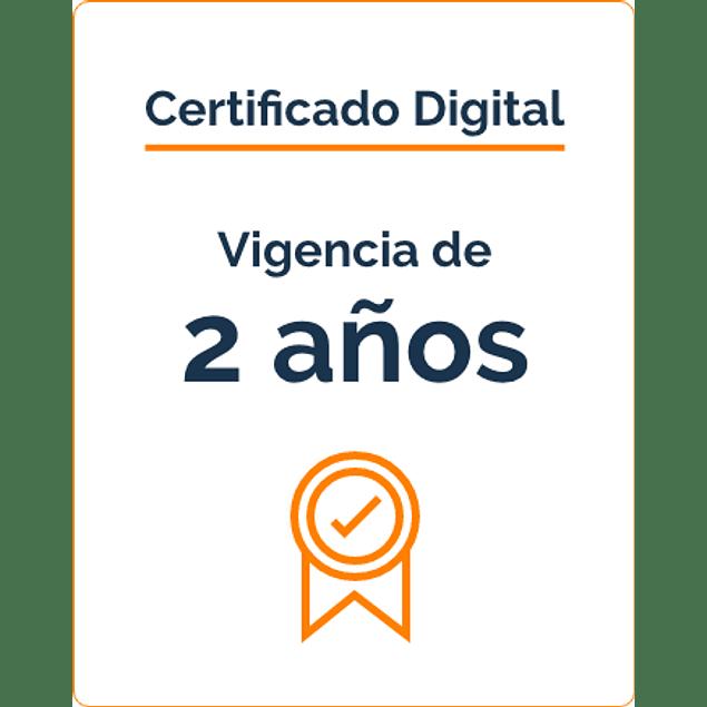 Firma Digital por 2 Años