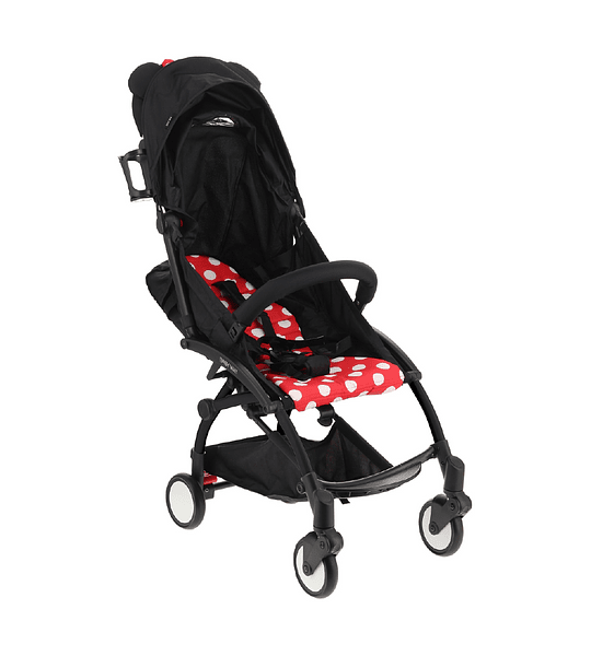 COCHE PASEO CITY BABY WAY BLANCO-ROJO