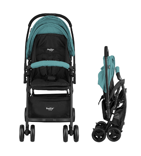 COCHE PASEO ULTRA LIGHT BABY WAY TURQUESA