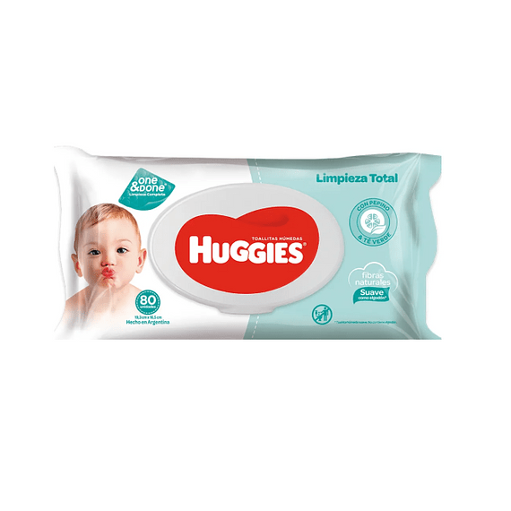 Toallas humedas one and done Huggies 80 un