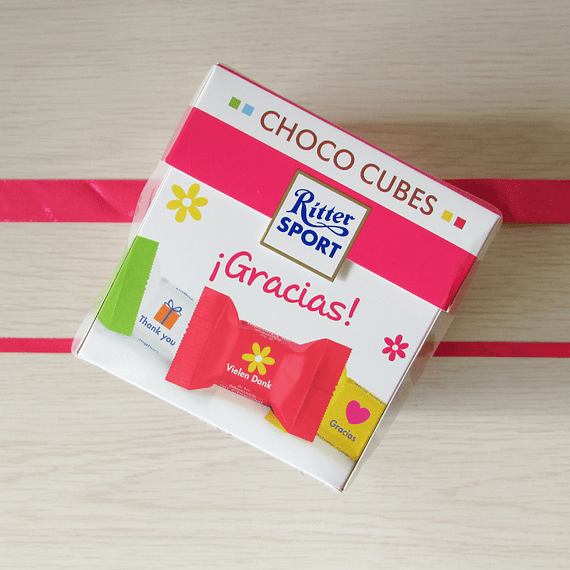 Ritter Sport mini cubes Thank you 176 gr
