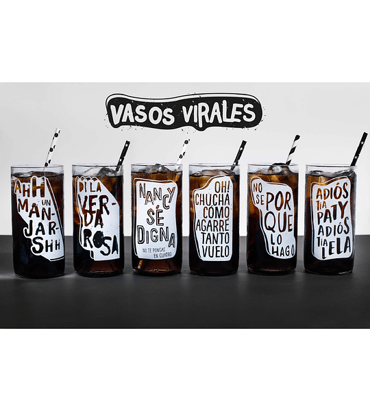 Six pack vasos virales de Green Glass